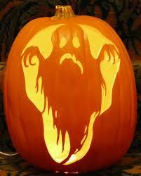 ghoulish ghost pattern i carved on a foam pumpkin pumpkin