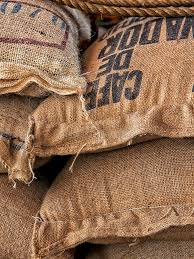 burlap sacks with coffee beans stock photo image 45449307