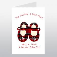 scottish baby card shoes wwba19 new baby cards