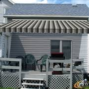 Awning Sunbrella Nuimage Retractable Awning With Sunbrella Clinton Granite 4888