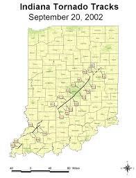 Indianapolis In Map Nature U0027s Fury The Central Indiana Tornadoes Of 9 20 02 And The