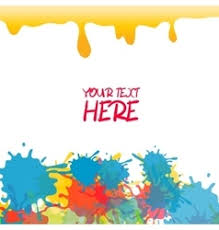 bright rainbow colors paint splash royalty free vector image