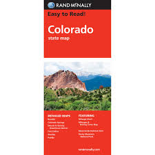 National Parks In Colorado Map by Rand Mcnally Easy To Read State Folded Map Colorado