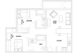 bath floor plans 2 bed 2 bath grad upperclassmen vista co norte