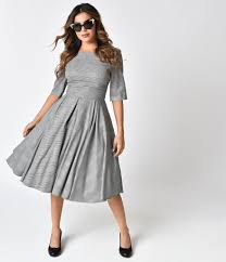 black dress company the pretty dress company black white prince of wales hepburn