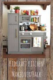 kitchen turn an old entertainment center into childrens play