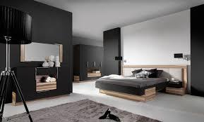 meuble de chambre adulte miroir mural chambre à coucher adulte black 115 cm
