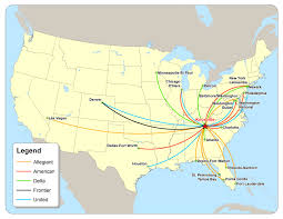 Delta Route Maps by East Tennessee Economic Development Agency Daily Flights