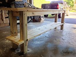 How To Paint A Table How To Easily Build And Paint A Table With No Nails Shabbyfufu
