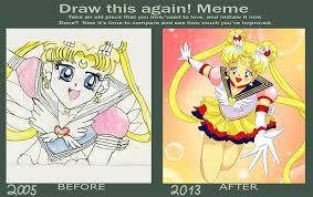 Sailor Moon Meme - draw this again meme sailor moon by xxbloodberryjamxx on deviantart