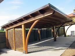 tettoia legno auto tettoie in legno foto tettoia in ln legno lamellare chiusa in