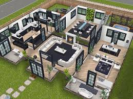 layout of house house 75 remodelled player designed house ground level sims