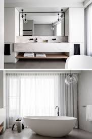 best ideas about modern master bathroom pinterest this master bathroom the vanity has dual sinks large black framed mirror