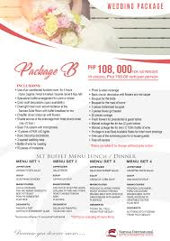 Wedding Packages Sarrosa International Hotel And Residential Suites Cebu City