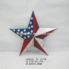 Metal Star Home Decor Us Flag Design Metal Five Star Wall Arts For Home Decor Buy