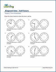 telling time half hour grade 2 telling time worksheets free printable k5 learning