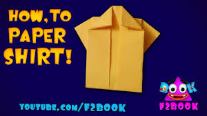 how to make a dress paper craft tutorial origami for kids youtube