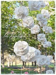 wedding backdrop book curtain of 7 garlands vintage book page paper flower roses