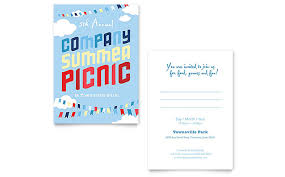 company summer picnic invitation template word u0026 publisher