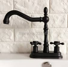 oil rubbed kitchen faucets black oil rubbed bronze dual hole deck mounted bathroom kitchen
