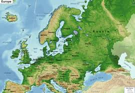 europe phisical map physical map of europe social studies 9