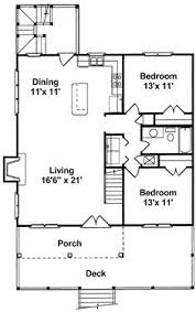 Small Beach Cottage House Plans Small House Plan To Narrow Lot With Two Bedrooms Open Plan