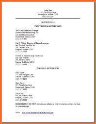Character Reference Format Resume Reference List Sample References List Of References For Job