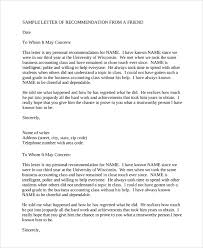sample recommendation letter 8 examples in pdf word