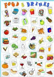 food and drinks cut u0026 paste vocabulary revision for kids