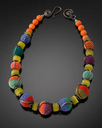 beads necklace images Tumbling beaded beads necklace julie powell design jpg