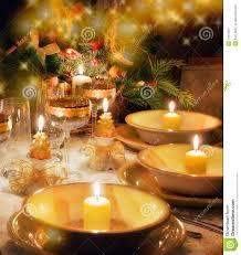 Dinner Table Christmas Dinner Table With Christmas Mood Stock Image Image