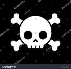 simple cartoon skull crossbones icon on stock vector 316089359