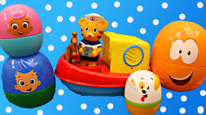 bubble guppies surprise eggs u0026 daniel tiger u0027s neighborhood bath