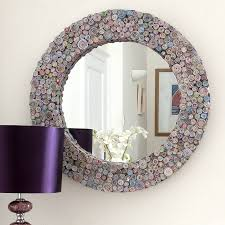 Decorative Mirrors For Living Room by Multicoloured Recycled Round Mirror Mirrors Online Decorative