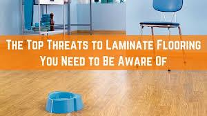top threats to laminate flooring