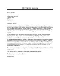 Sample Resume Cover Letter Examples by Executive Cover Letter Examples My Document Blog