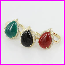 new rings style images New style 2015 hot sale agate ring big rings red green black gems jpg