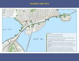 Portland Bridges Map by Shared Use Pathways Portland Me