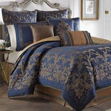 Blue Bed Set New Traditional Comforters Touch Of Class