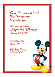 mickey mouse birthday invitations template template collection