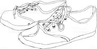 canvas shoes sketch stock vector art 164416145 istock