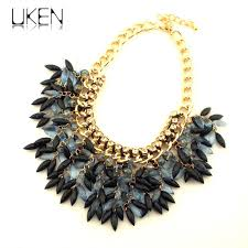 handmade statement necklace images Uken women handmade statement necklace fashion rhinestones bead jpg