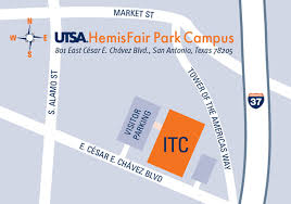San Antonio Texas Map Hemisfair Campus Utsa University Of Texas At San Antonio