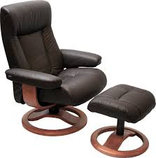 real leather swivel recliner chairs hjellegjerde scansit 110 chair and ottoman large