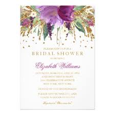 bridal shower invites glitter bridal shower invitations announcements zazzle canada
