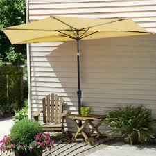 Commercial Patio Umbrella by Amazon Com Yescom 10ft Beige Outdoor Patio Half Umbrella Cafe
