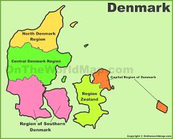 Denmark On World Map by Denmark Maps Maps Of Denmark