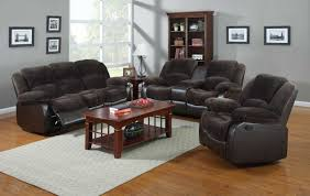 nathaniel home anthony blue microfiber recliner chair