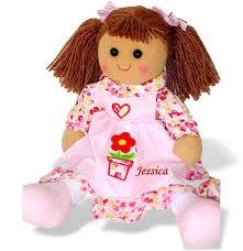 personalised christmas rag doll baby u0027s first christmas soft