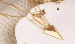 tooth pendant necklace images Double chain gold shark tooth pendant necklace the trendi shop jpg